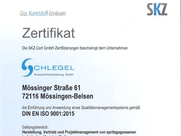 SKZ Zertifikat